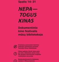"""Festivalis """"Nepatogus kinas"""" atvyksta į Gabrielės Petkevičaitės-Bitės viešąją biblioteką"""